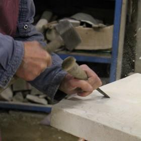 gravure - pierre blanche