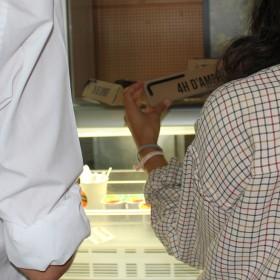 pendant les test au Restaurant Universitaire Le Fougère