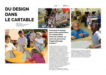 Comment le design peut-il être générateur de collaboration entre les enfants, au cours du processus d'apprentissage scolaire ?