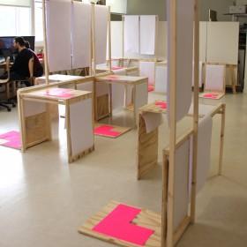 mobiliers qui seront disposés selon l'espace d'exposition